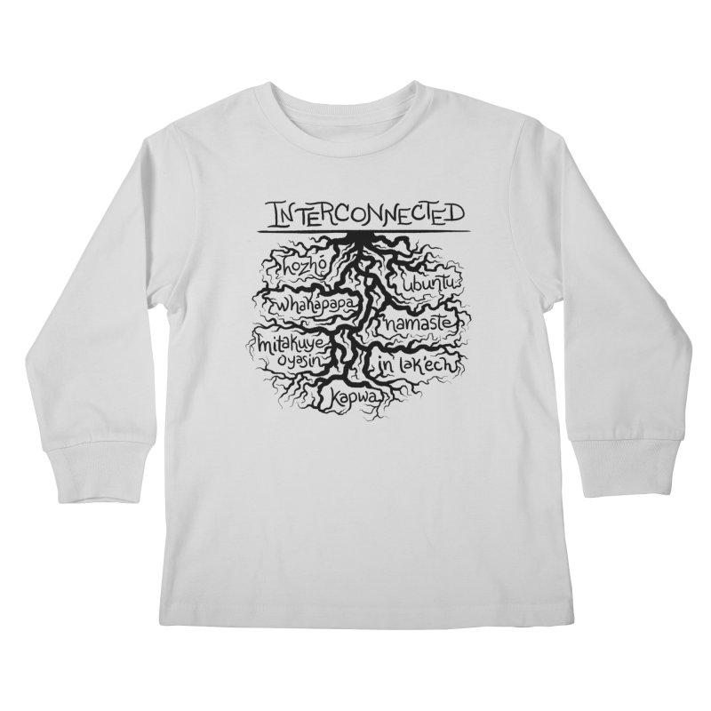 INTERCONNECTED (Black) Kids Longsleeve T-Shirt by amplifyrj's Artist Shop