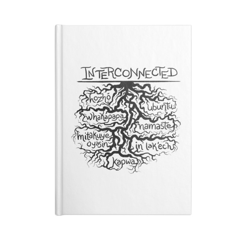 INTERCONNECTED (Black) Accessories Notebook by amplifyrj's Artist Shop