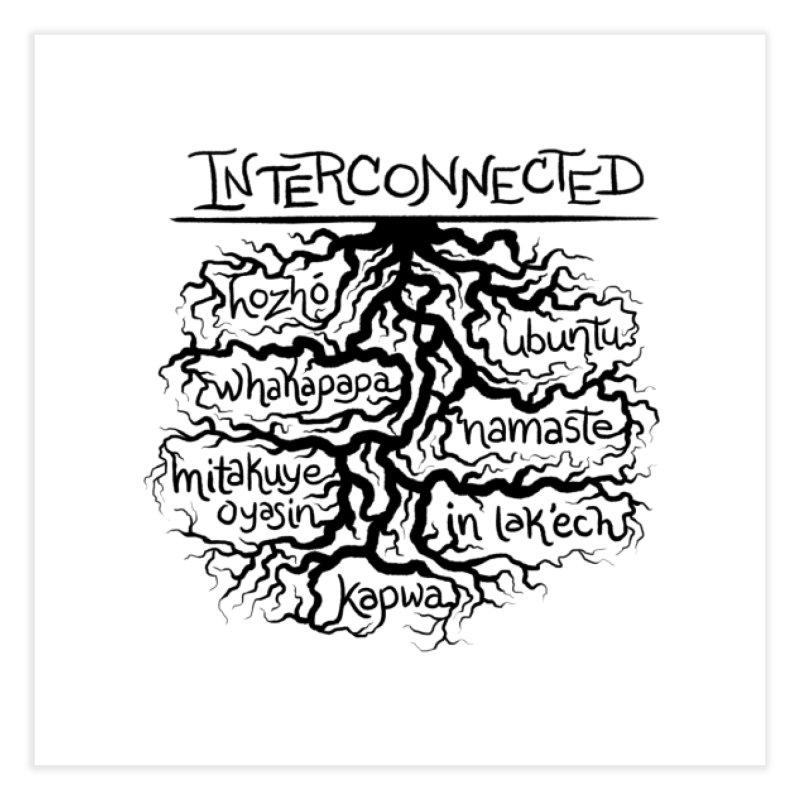 INTERCONNECTED (Black) Home Fine Art Print by amplifyrj's Artist Shop