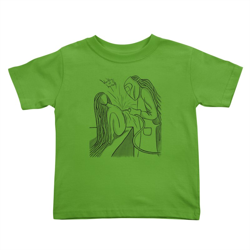Working on Myself (Black) Kids Toddler T-Shirt by amplifyrj's Artist Shop