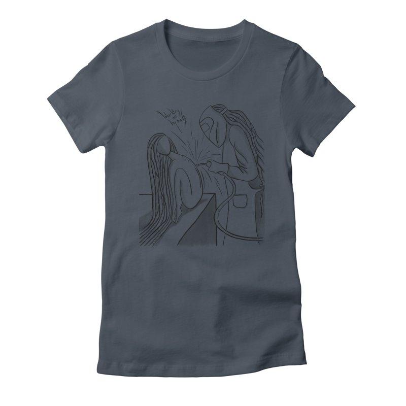 Working on Myself (Black) Women's T-Shirt by amplifyrj's Artist Shop