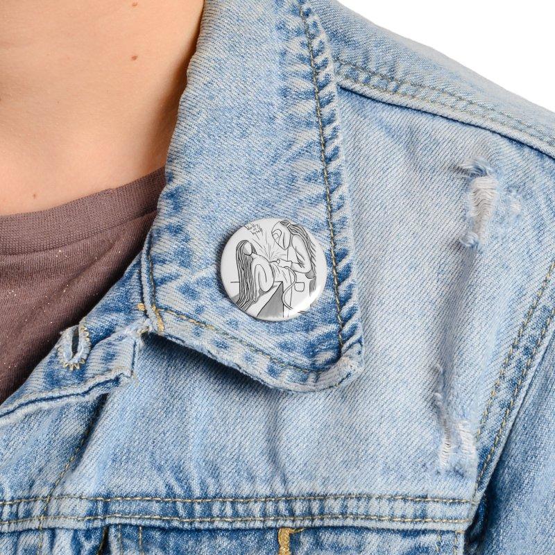 Working on Myself (Black) Accessories Button by amplifyrj's Artist Shop