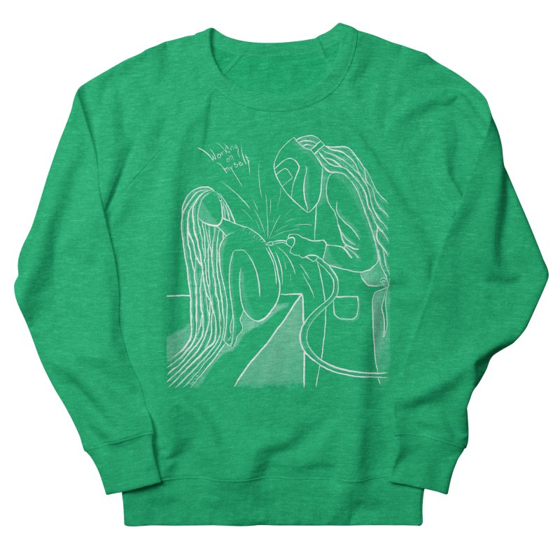 """Working on Myself"" (White) Women's Sweatshirt by amplifyrj's Artist Shop"