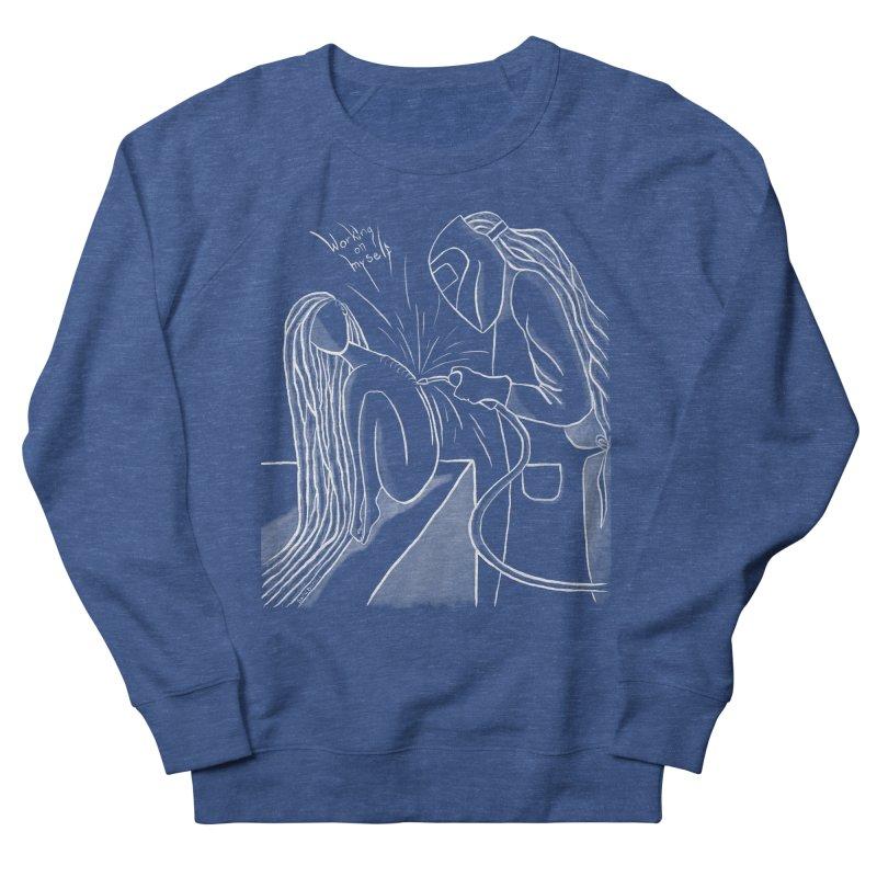 """Working on Myself"" (White) Men's Sweatshirt by amplifyrj's Artist Shop"