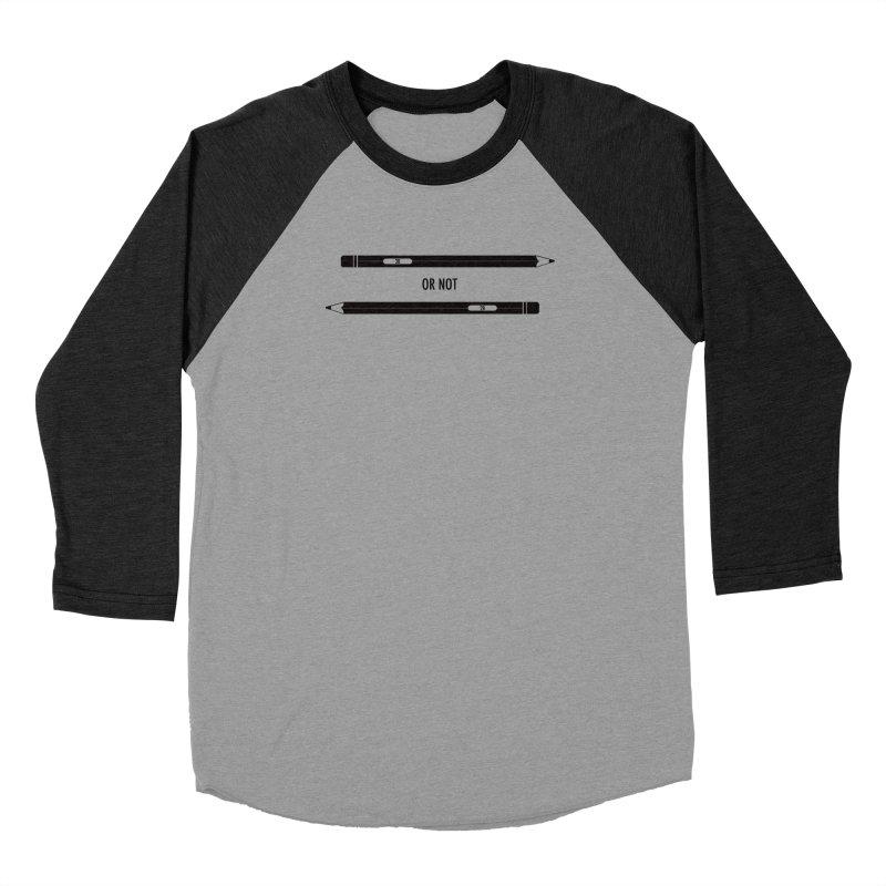 2B or not 2B Men's Baseball Triblend Longsleeve T-Shirt by Amu Designs Artist Shop
