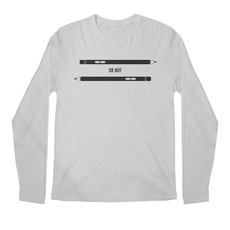 2B or not 2B Men's Regular Longsleeve T-Shirt by Amu Designs Artist Shop