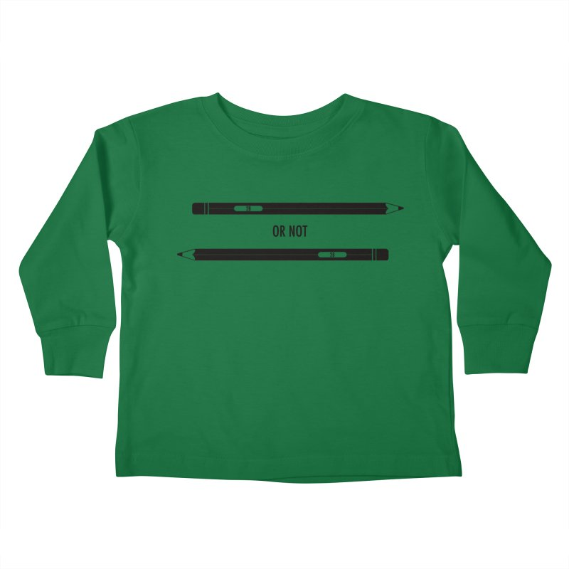 2B or not 2B Kids Toddler Longsleeve T-Shirt by Amu Designs Artist Shop