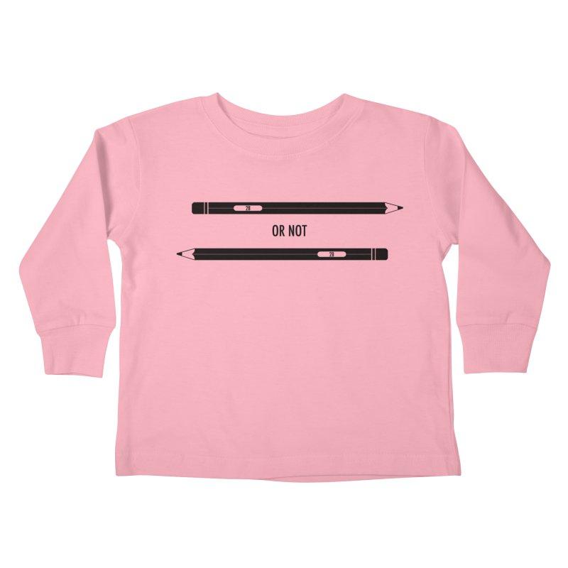 2B or not 2B Kids Toddler Longsleeve T-Shirt by Amu Designs Artist Shop