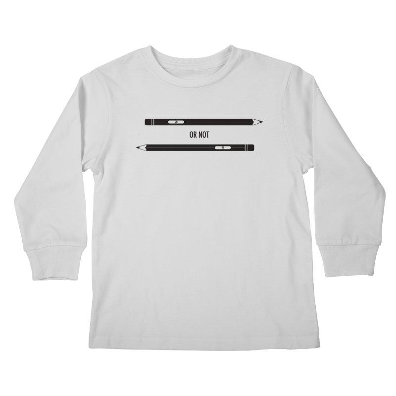 2B or not 2B Kids Longsleeve T-Shirt by Amu Designs Artist Shop