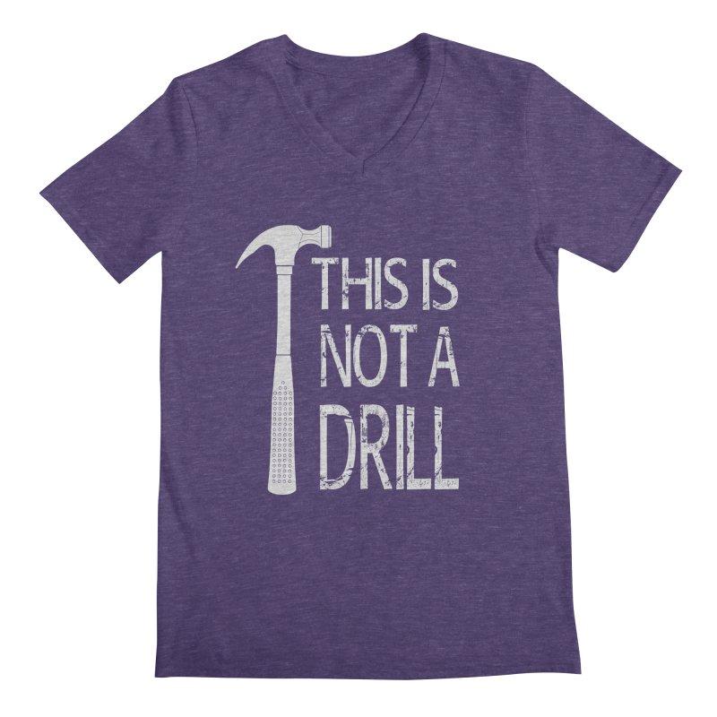 This is not a drill Men's Regular V-Neck by Amu Designs Artist Shop