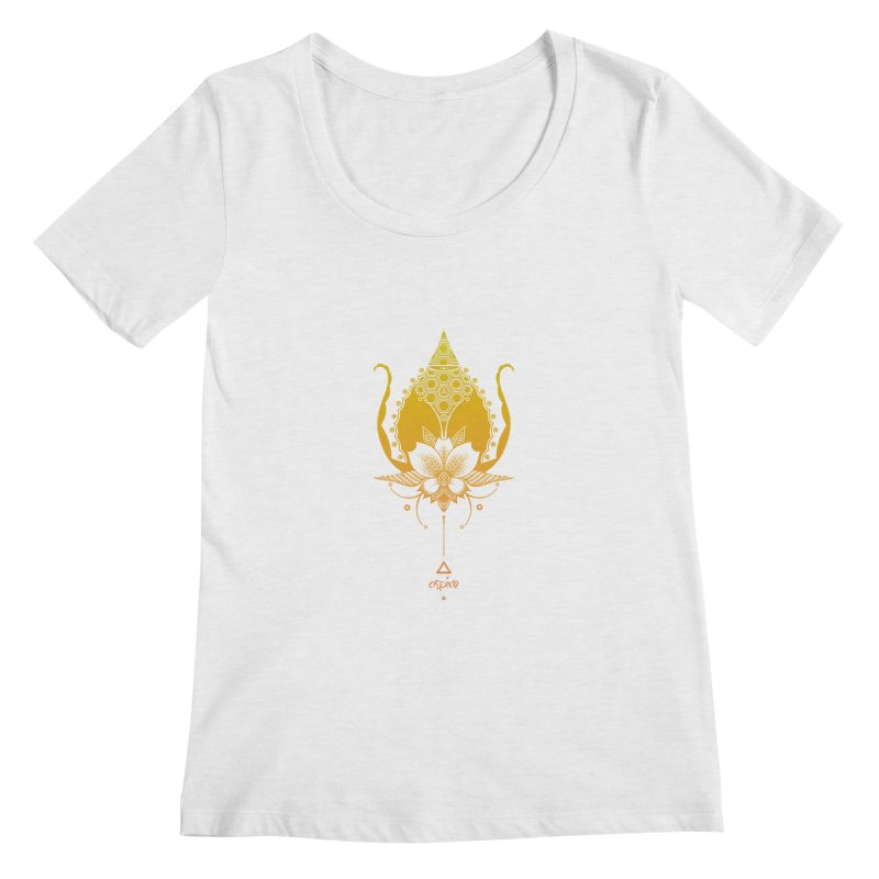 Aspire Women's Regular Scoop Neck by Amu Designs Artist Shop