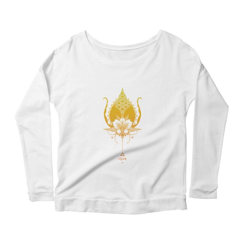 Aspire Women's Scoop Neck Longsleeve T-Shirt by Amu Designs Artist Shop