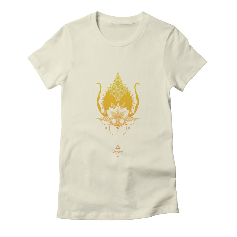 Aspire Women's Fitted T-Shirt by Amu Designs Artist Shop