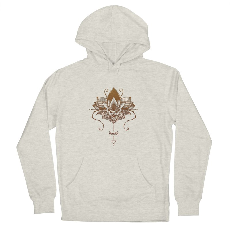 Flourish Women's French Terry Pullover Hoody by Amu Designs Artist Shop