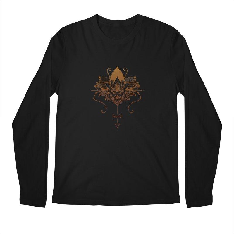 Flourish Men's Regular Longsleeve T-Shirt by Amu Designs Artist Shop