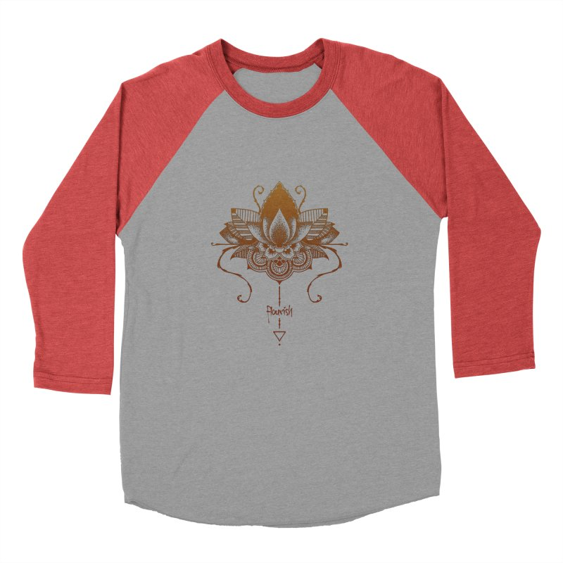 Flourish Men's Baseball Triblend Longsleeve T-Shirt by Amu Designs Artist Shop