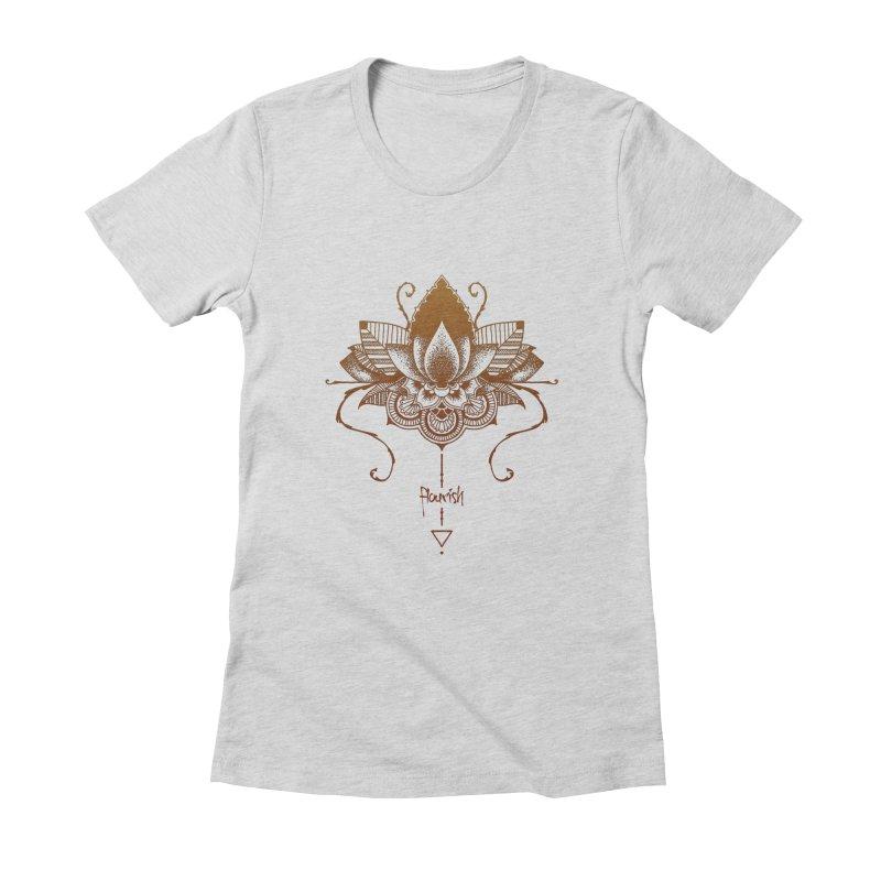 Flourish Women's Fitted T-Shirt by Amu Designs Artist Shop