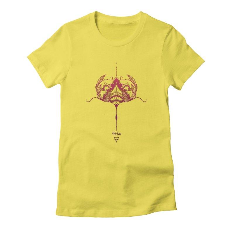 Thrive Women's Fitted T-Shirt by Amu Designs Artist Shop