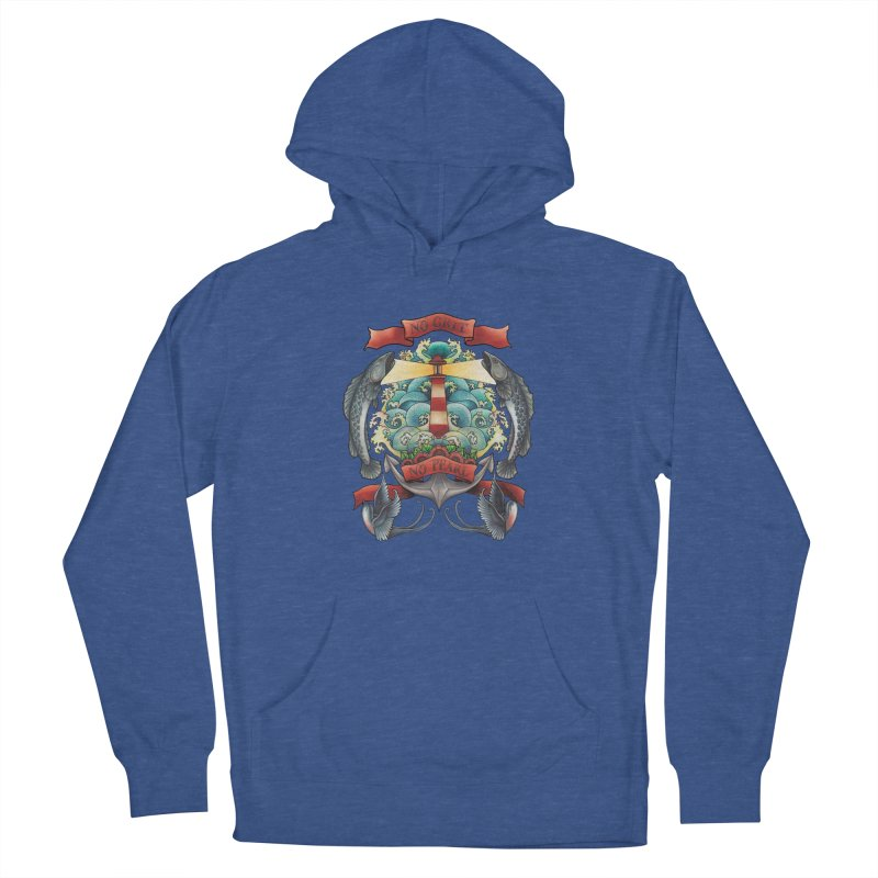 No Grit No Pearl Men's French Terry Pullover Hoody by Amu Designs Artist Shop