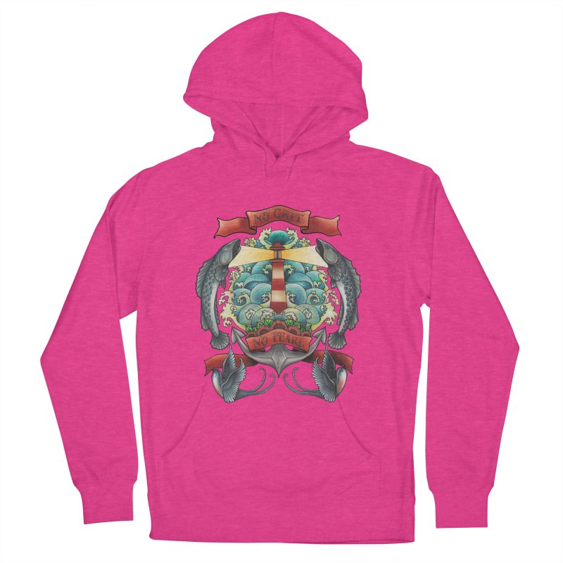 No Grit No Pearl Women's French Terry Pullover Hoody by Amu Designs Artist Shop