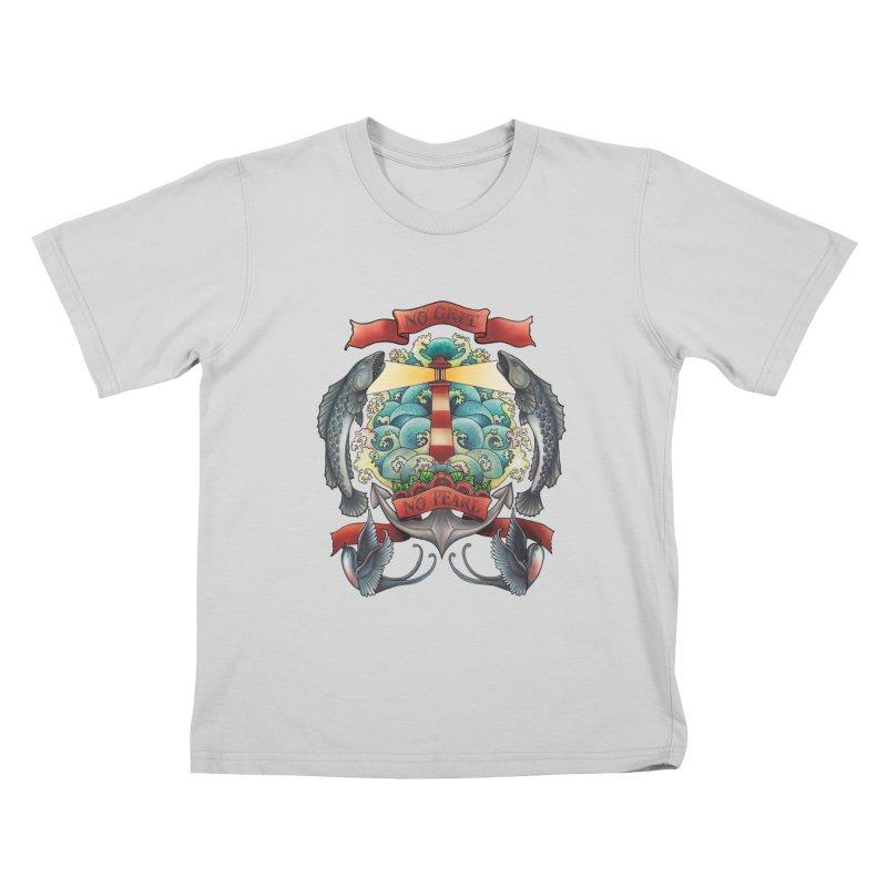 No Grit No Pearl Kids T-Shirt by Amu Designs Artist Shop