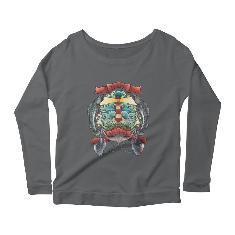No Grit No Pearl Women's Scoop Neck Longsleeve T-Shirt by Amu Designs Artist Shop