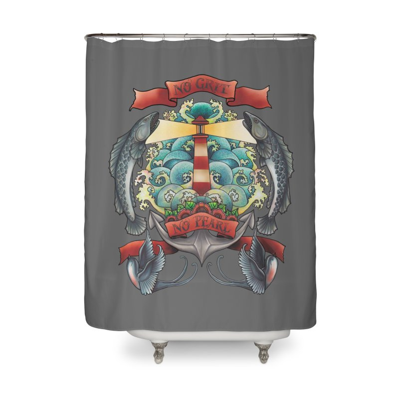 No Grit No Pearl Home Shower Curtain by Amu Designs Artist Shop