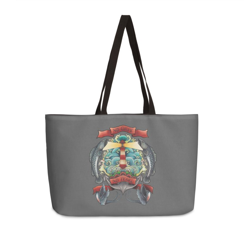 No Grit No Pearl Accessories Weekender Bag Bag by Amu Designs Artist Shop