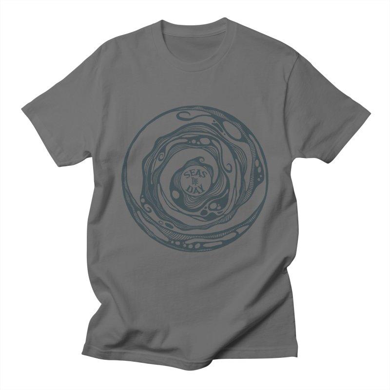 Seas The Day Teal Men's T-Shirt by Amu Designs Artist Shop