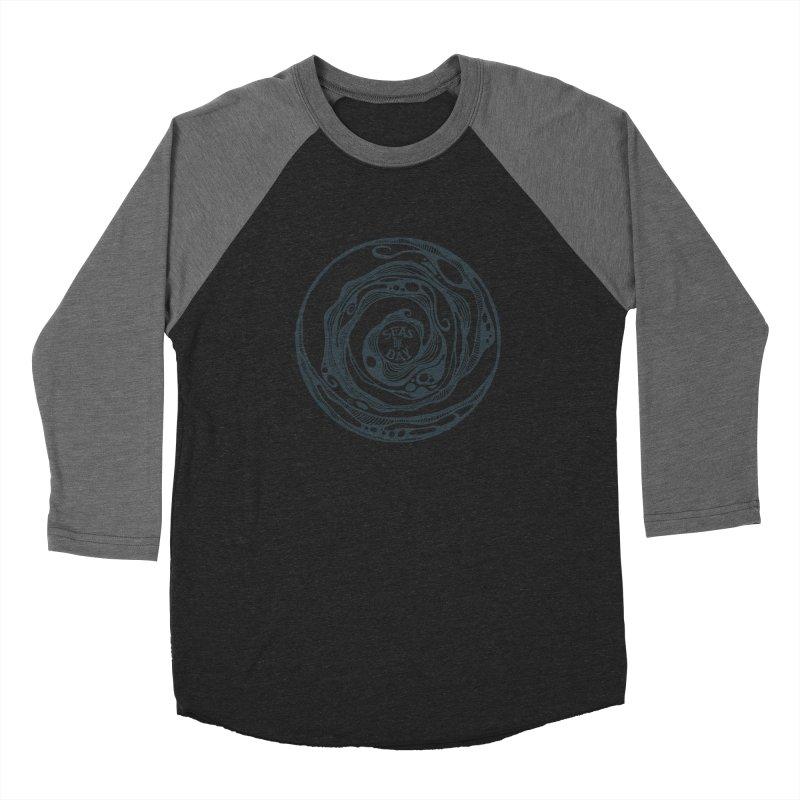 Seas The Day Teal Men's Baseball Triblend Longsleeve T-Shirt by Amu Designs Artist Shop