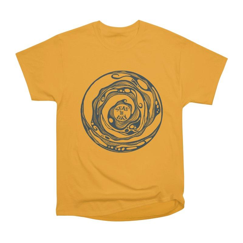 Seas The Day Teal Women's Heavyweight Unisex T-Shirt by Amu Designs Artist Shop