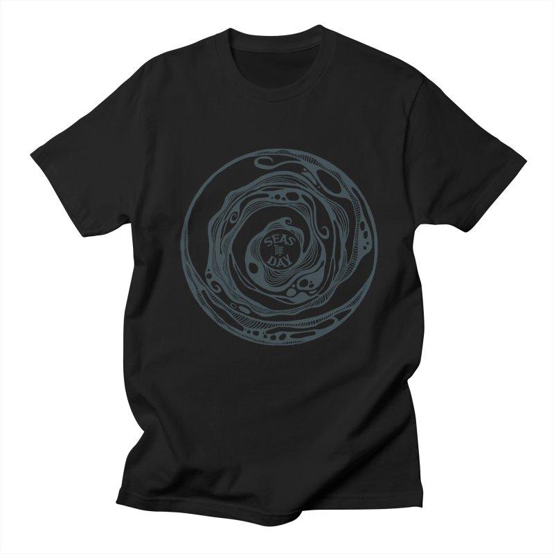 Seas The Day Teal Men's Regular T-Shirt by Amu Designs Artist Shop