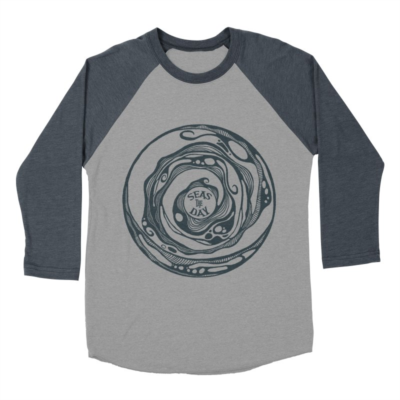 Seas The Day Teal Women's Baseball Triblend Longsleeve T-Shirt by Amu Designs Artist Shop