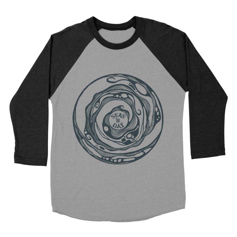 Seas The Day Teal Men's Longsleeve T-Shirt by Amu Designs Artist Shop