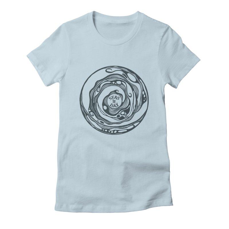 Seas The Day Teal Women's T-Shirt by Amu Designs Artist Shop