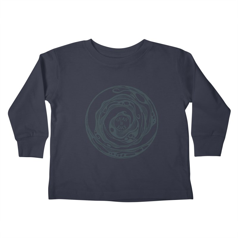 Seas The Day Teal Kids Toddler Longsleeve T-Shirt by Amu Designs Artist Shop