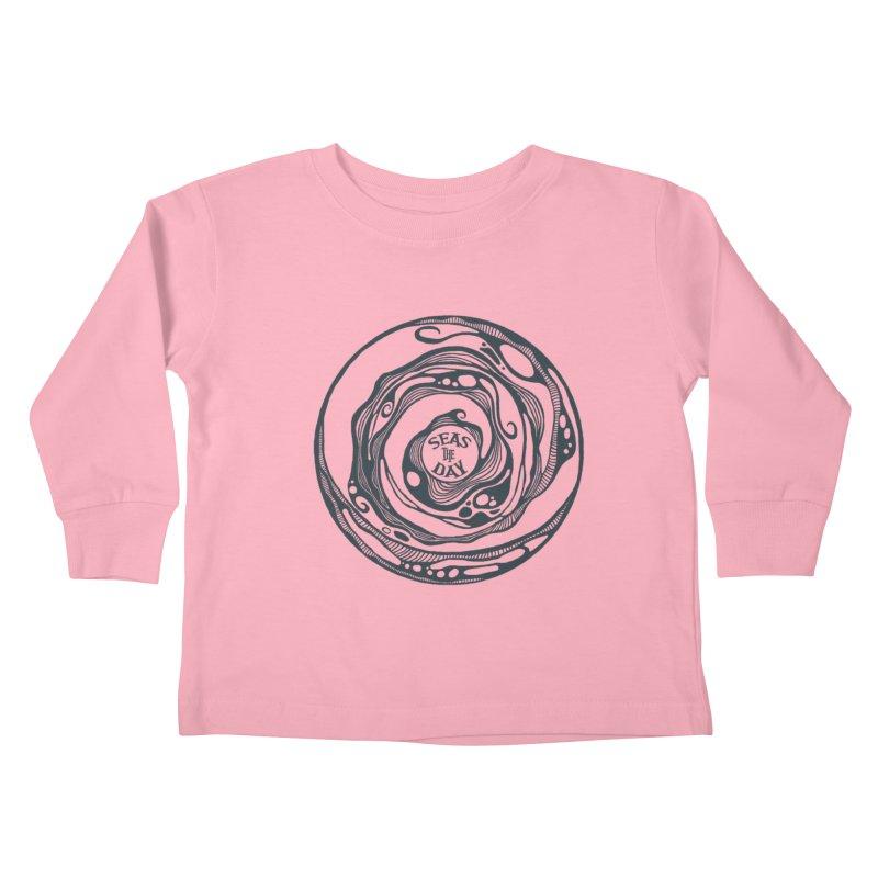 Seas The Day Teal Kids Toddler Longsleeve T-Shirt by Amu Designs Artist Shop