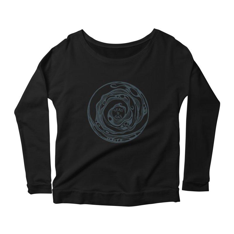 Seas The Day Teal Women's Scoop Neck Longsleeve T-Shirt by Amu Designs Artist Shop