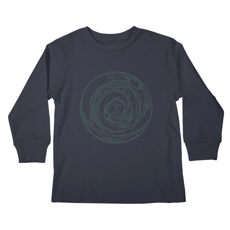 Seas The Day Teal Kids Longsleeve T-Shirt by Amu Designs Artist Shop
