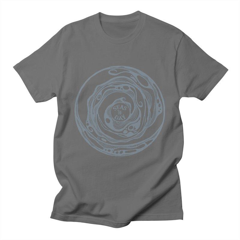 Seas The Day Light Grey Men's T-Shirt by Amu Designs Artist Shop