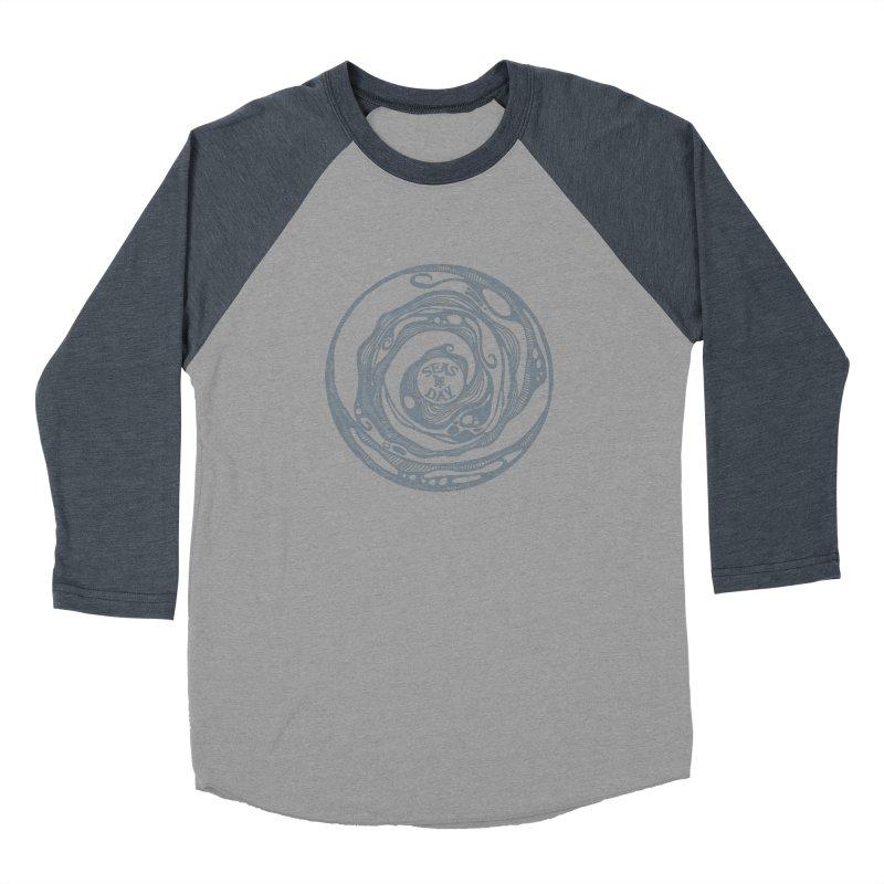 Seas The Day Light Grey Men's Baseball Triblend Longsleeve T-Shirt by Amu Designs Artist Shop