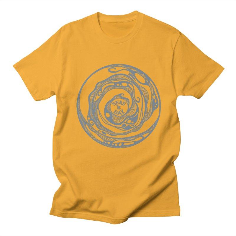 Seas The Day Light Grey Men's Regular T-Shirt by Amu Designs Artist Shop
