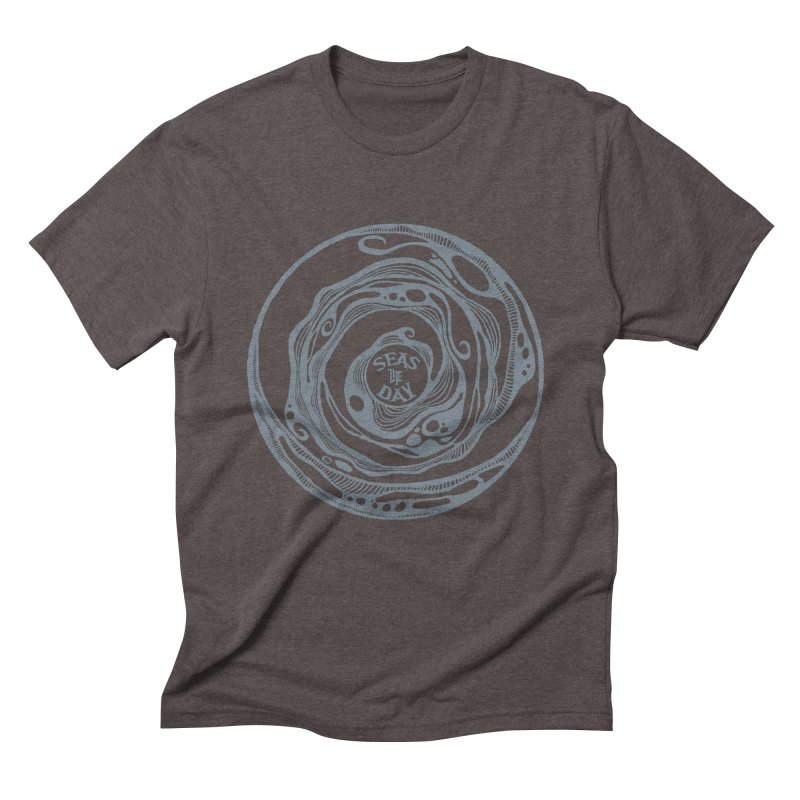 Seas The Day Light Grey Men's Triblend T-Shirt by Amu Designs Artist Shop