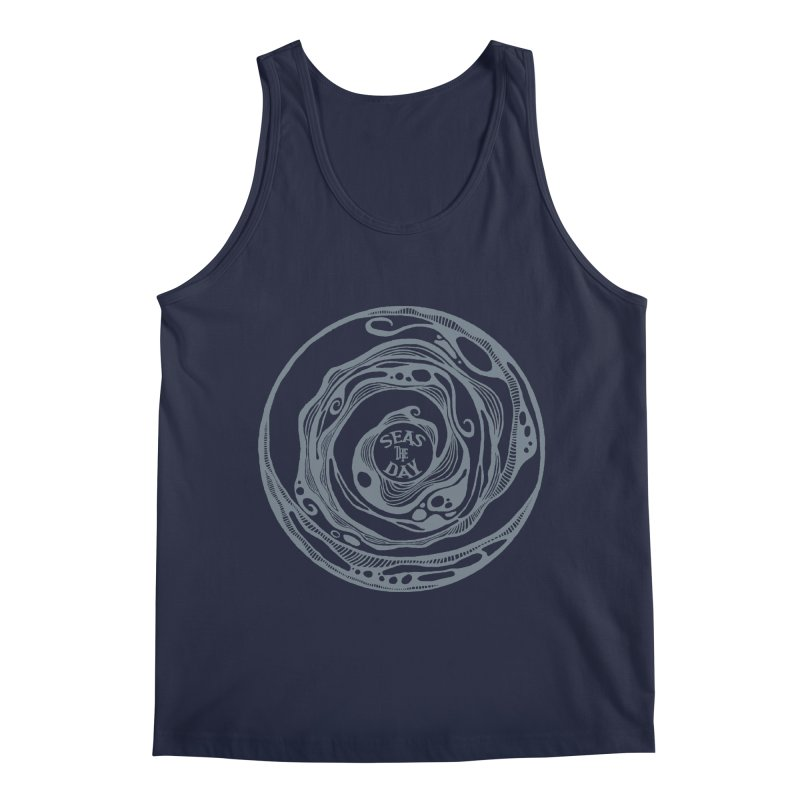 Seas The Day Light Grey Men's Regular Tank by Amu Designs Artist Shop