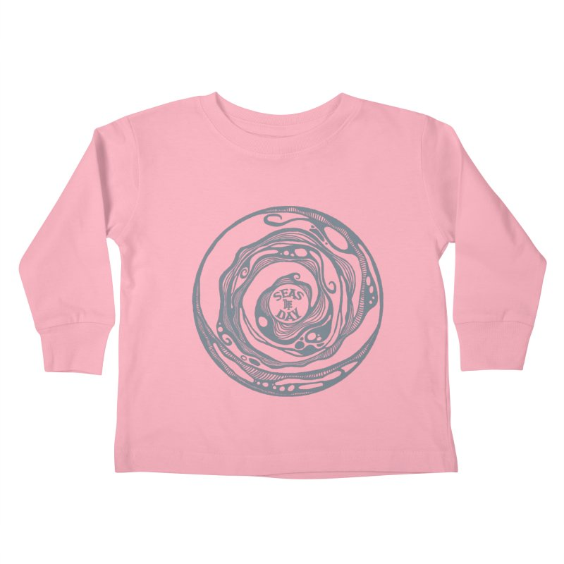 Seas The Day Light Grey Kids Toddler Longsleeve T-Shirt by Amu Designs Artist Shop