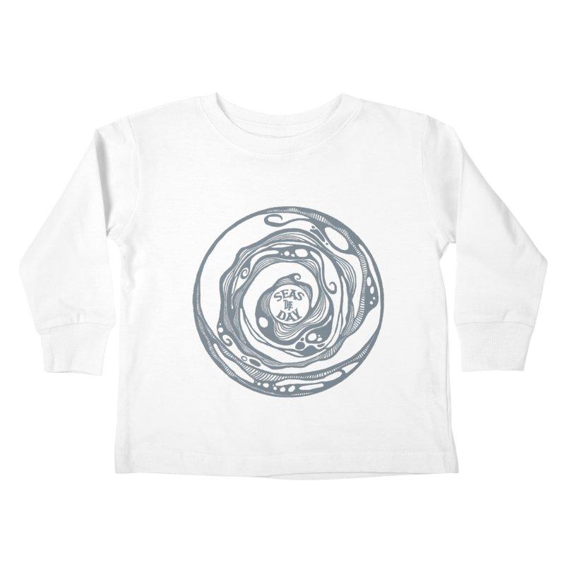 Seas The Day Light Grey Kids Toddler Longsleeve T-Shirt by Amu Designs Artist Shop