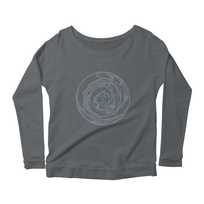 Seas The Day Light Grey Women's Scoop Neck Longsleeve T-Shirt by Amu Designs Artist Shop