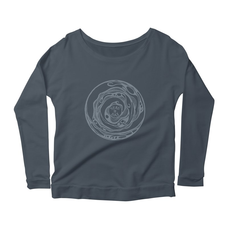 Seas The Day Light Grey Women's Scoop Neck Longsleeve T-Shirt by Amu Designs Artist Shop