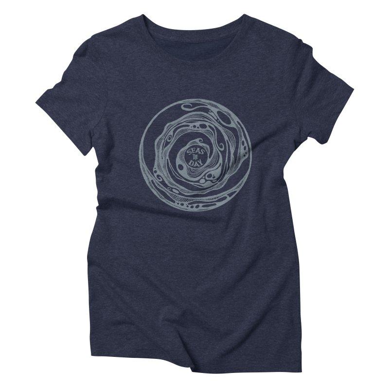 Seas The Day Light Grey Women's Triblend T-Shirt by Amu Designs Artist Shop