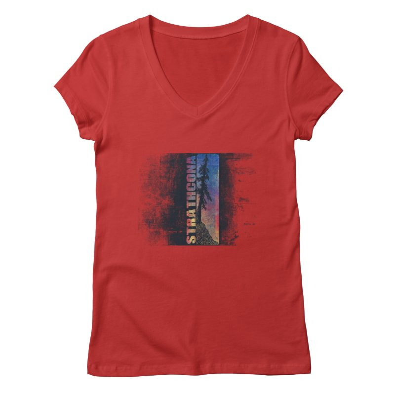 Strathcona Women's Regular V-Neck by Amu Designs Artist Shop